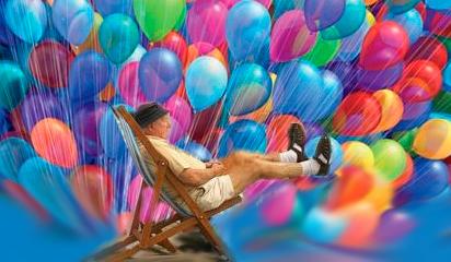 Лари Уолтерс пенсионер на шариках приколы сайта Орджо