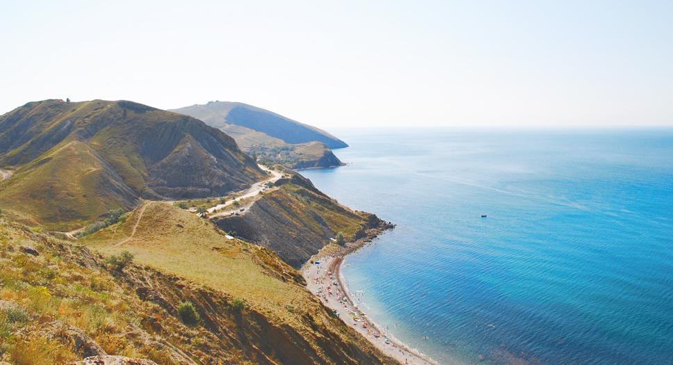 прогулка из поселка Орджоникидзе в Крыму в сторону Феодосии