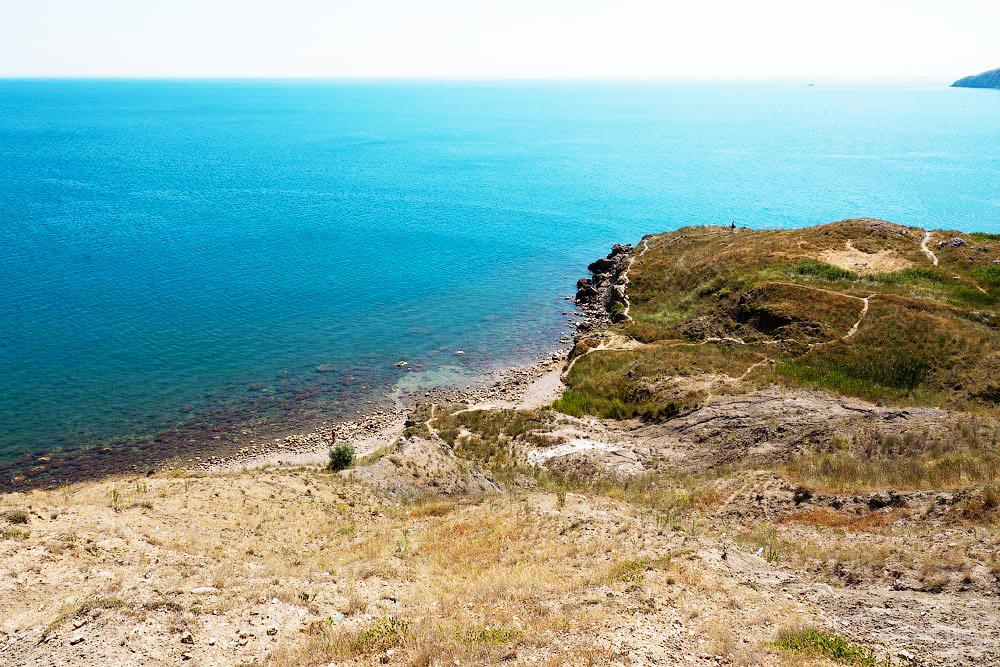 Пляжи Орджоникидзе Крым. безымянный пляж