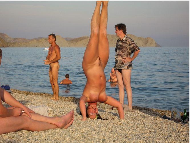 Секс на нудистском пляже в коктебель смотреть