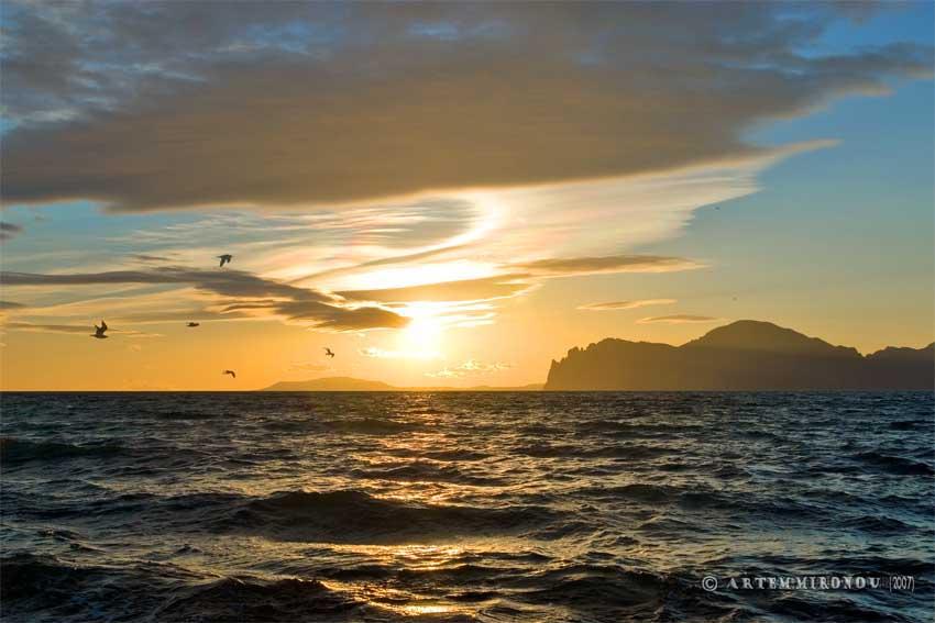 Лучшие закаты в Крыму в Орджоникидзе
